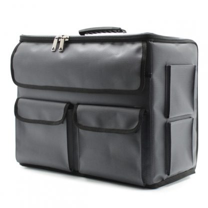 сумка чехол для хранения и транспортировки оборудования серый сбоку