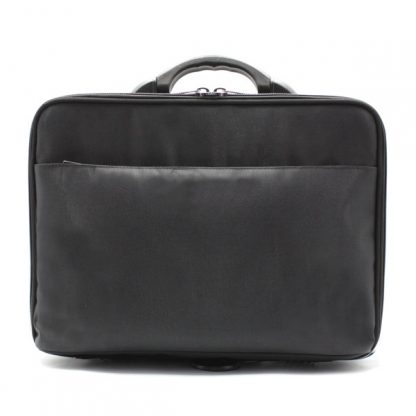 сумка кейс чёрный для хранения бумаг спереди
