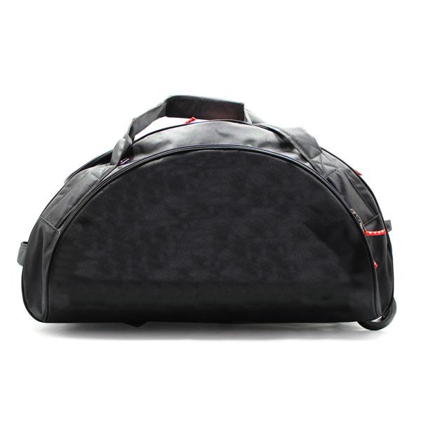 сумка колёсная спортивная для спортсменов чёрная карман