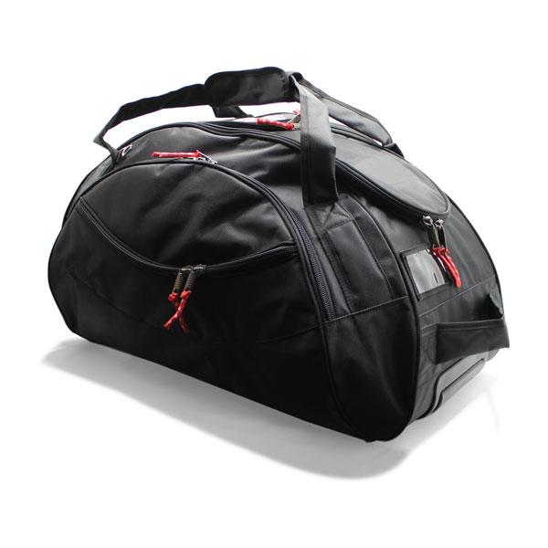 сумка колёсная спортивная для спортсменов чёрная сверху