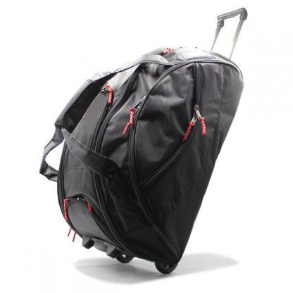 сумка колёсная спортивная для спортсменов чёрная сбоку
