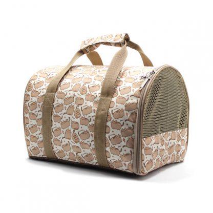 сумка переноска для животных с принтом сбоку