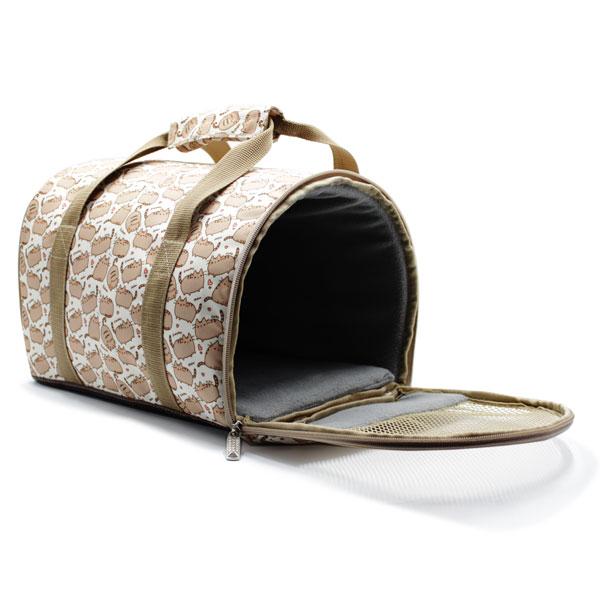сумка переноска для животных с принтом внутри