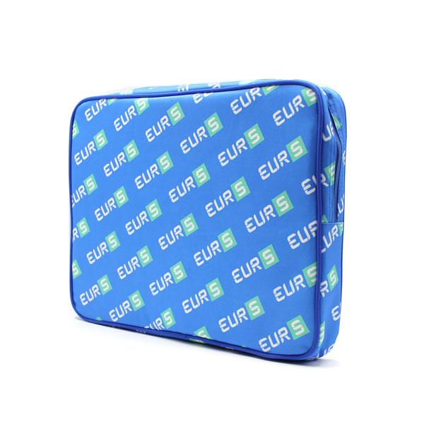 папка планшет большая с логотипом синяя сбоку