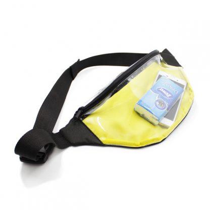 сумка на пояс из пленки прозрачная жёлтая