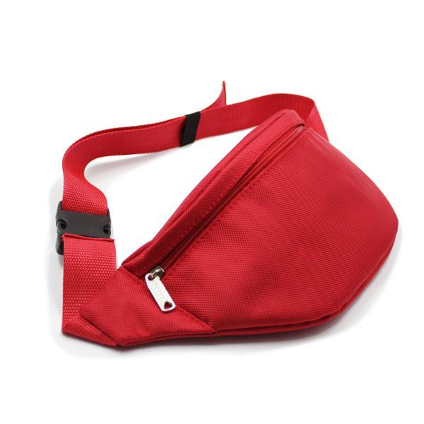 сумка на пояс красная премиум яркая сбоку