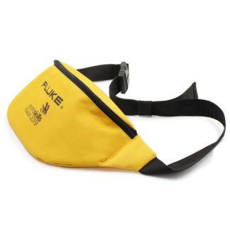 сумка поясная большая жёлтая для рекламы сбоку