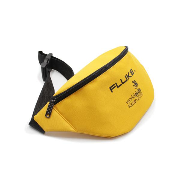 сумка поясная большая жёлтая для рекламы логотип