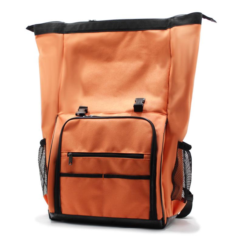рюкзак-скрутка-большой максимальный для доставки и курьеров оранжевый полный размер
