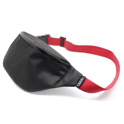 сумка поясная черная с обратной молнией vip audi сбоку