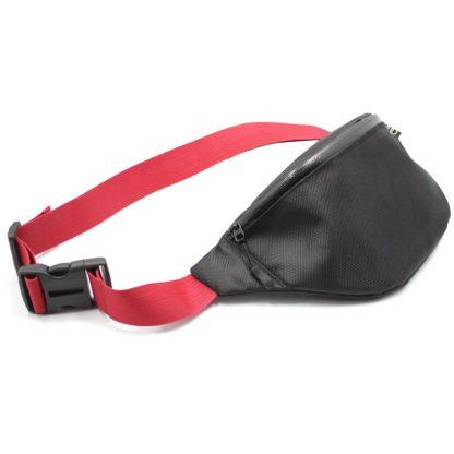 сумка поясная черная с обратной молнией vip audi ремень