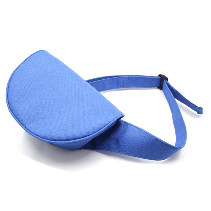 сумка поясная экокожа плотная кофр с клапаном синяя сверху