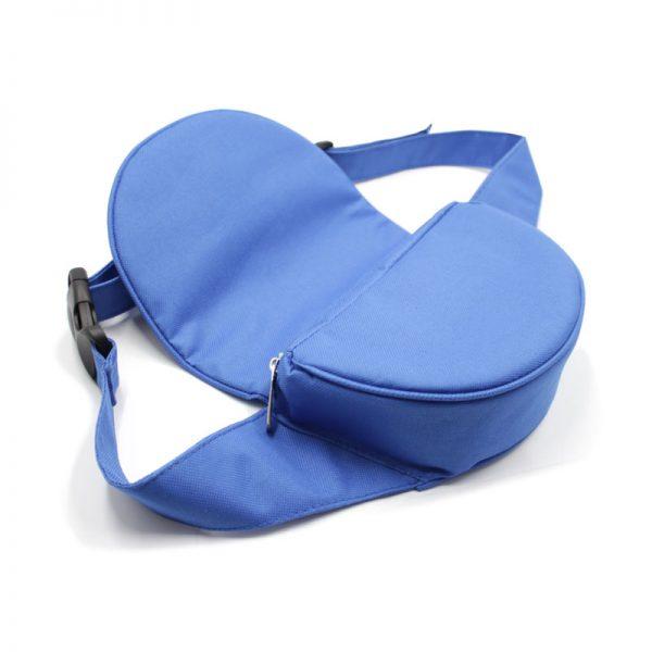 сумка поясная экокожа плотная кофр с клапаном синяя внутри