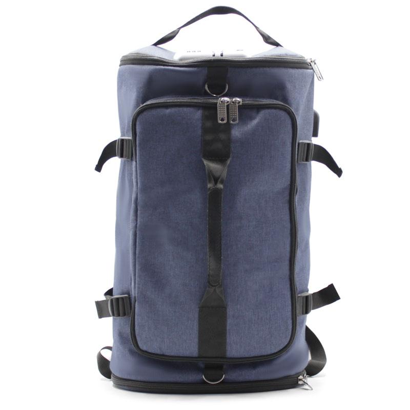 сумка рюкзак синий с лямками и ручками спереди
