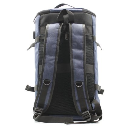 сумка рюкзак синий с лямками и ручками лямки