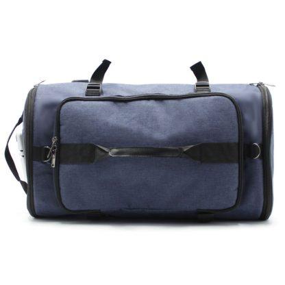 сумка рюкзак синий с лямками и ручками горизонтально