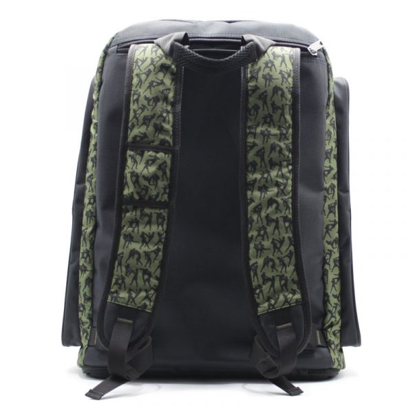 спортивная сумка для спортсменов с двойным дном спинка