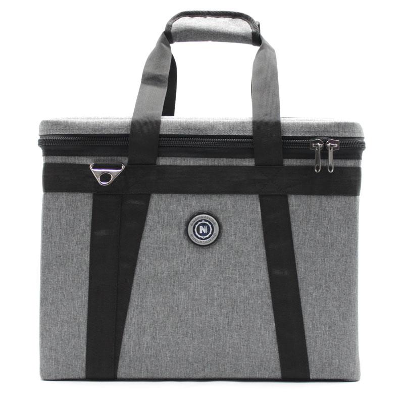 сумка кофр для переноски приборов серая спереди