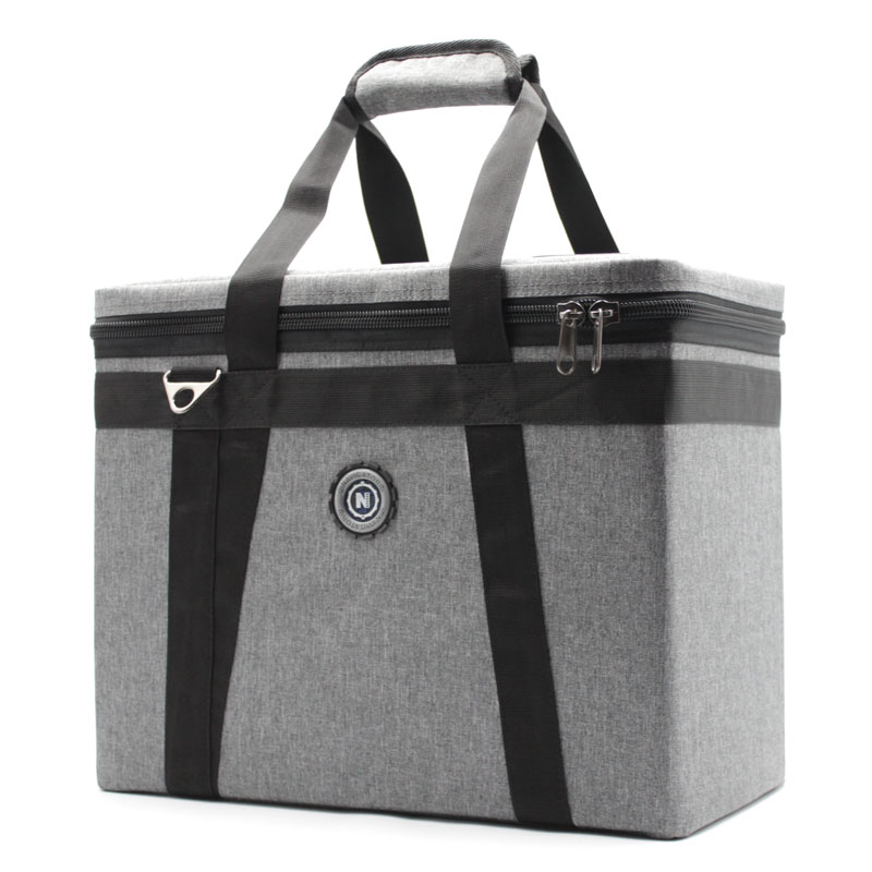 сумка кофр для переноски приборов серая сбоку