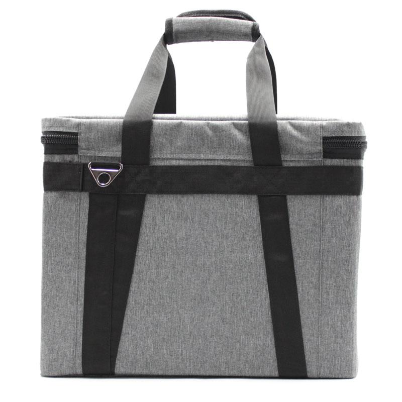 сумка кофр для переноски приборов серая сзади