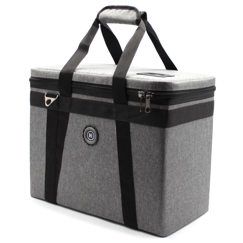 сумка кофр для переноски приборов серая сверху