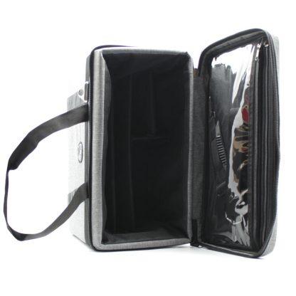сумка кофр для переноски приборов серая внутри