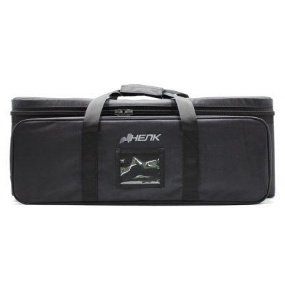 Большая сумка кофр для приборов чёрная спереди