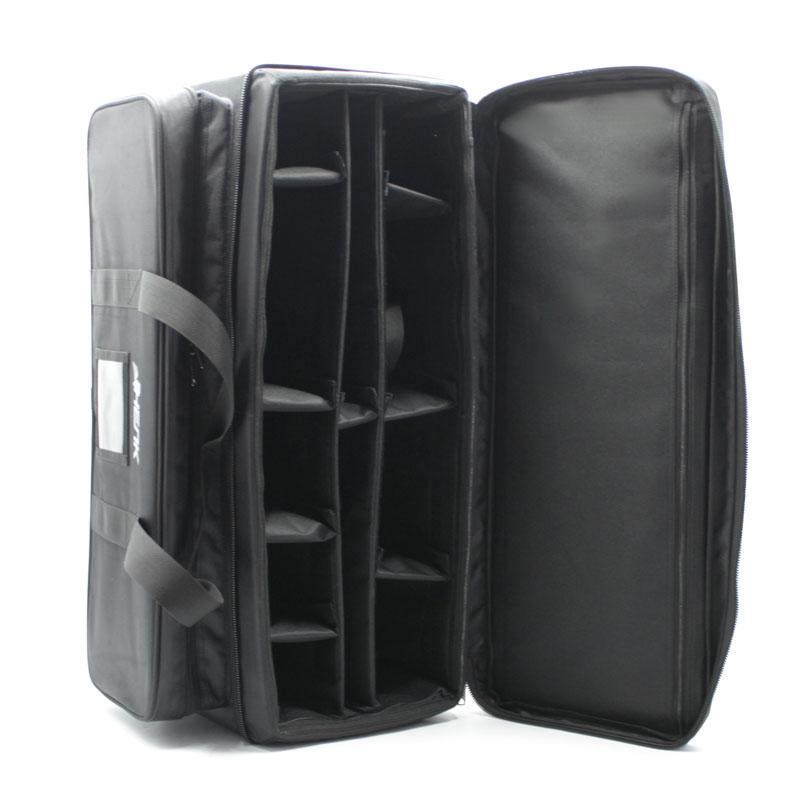 Большая сумка кофр для приборов чёрная перегородки