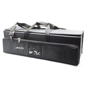 Большая сумка кофр для приборов чёрная на липучке сверху