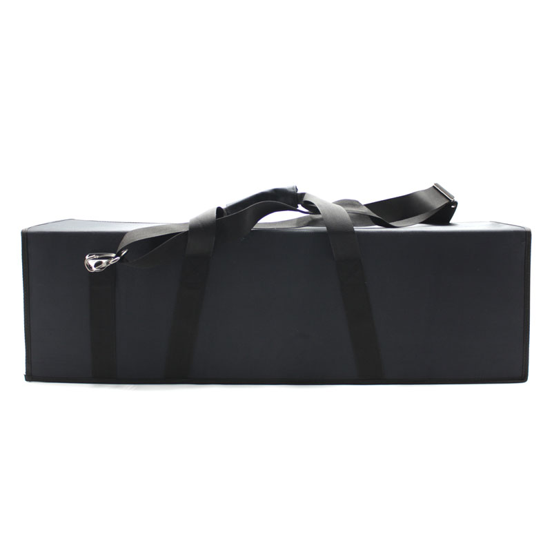 Большая сумка кофр для приборов чёрная на липучке сзади