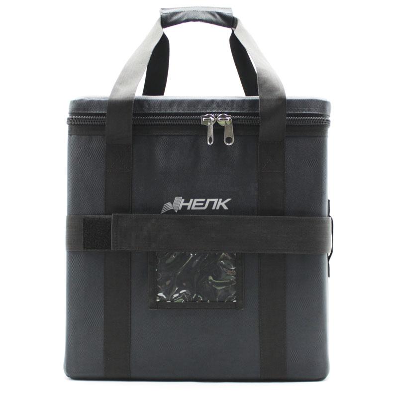 сумка кофр большая чёрная с ремнём спереди