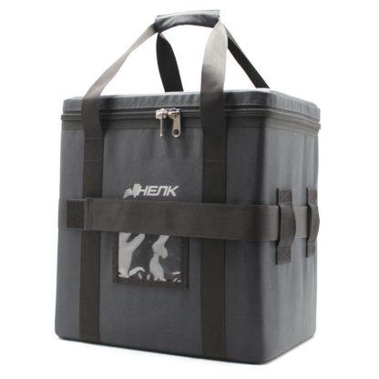сумка кофр большая чёрная с ремнём сбоку