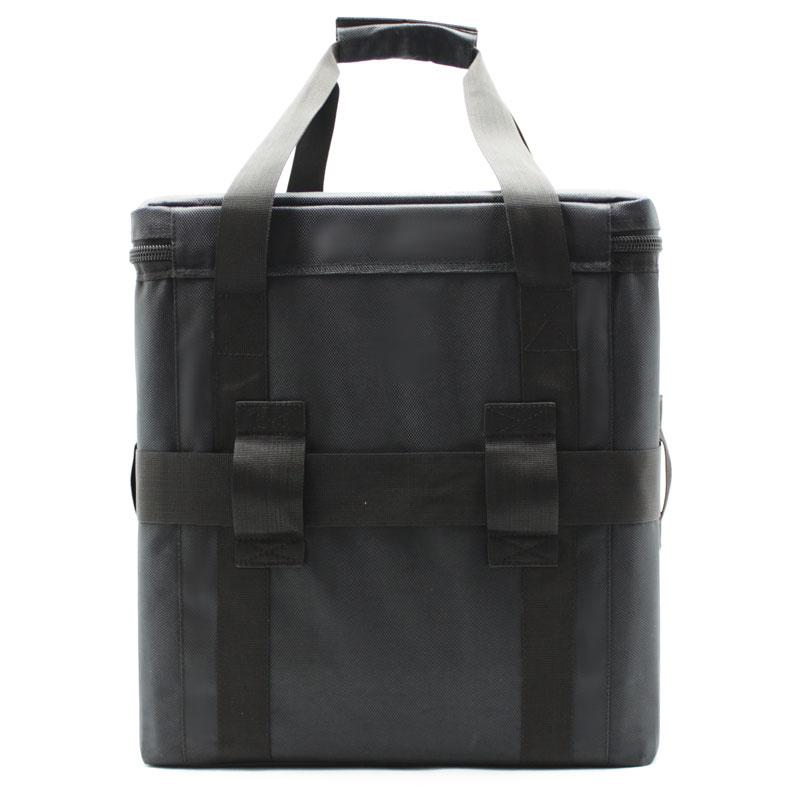 сумка кофр большая чёрная с ремнём сзади