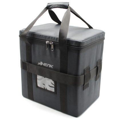 сумка кофр большая чёрная с ремнём сверху