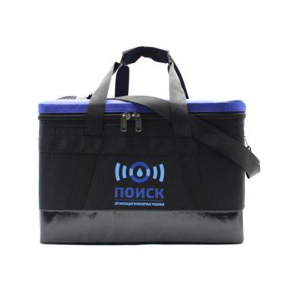 Комплект сумок для геодезического оборудования синяя спереди