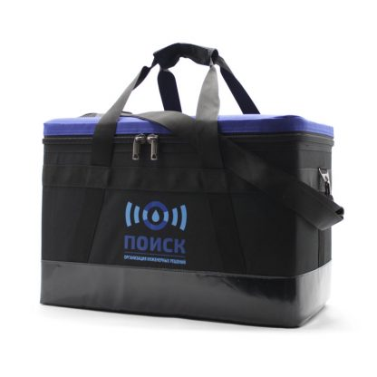 Комплект сумок для геодезического оборудования синяя сбоку