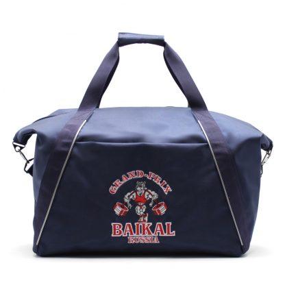сумка спортивная синяя с отделениями под обувь спереди