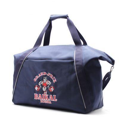 сумка спортивная синяя с отделениями под обувь сбоку