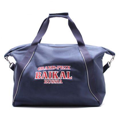 сумка спортивная синяя с отделениями под обувь сзади