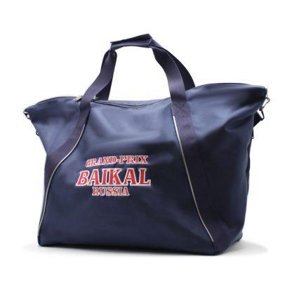 сумка спортивная синяя с отделениями под обувь блольшая