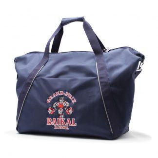 сумка спортивная синяя с отделениями под обувь карман