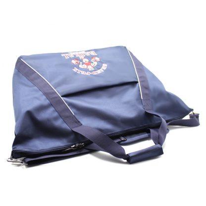 сумка спортивная синяя с отделениями под обувь сверху