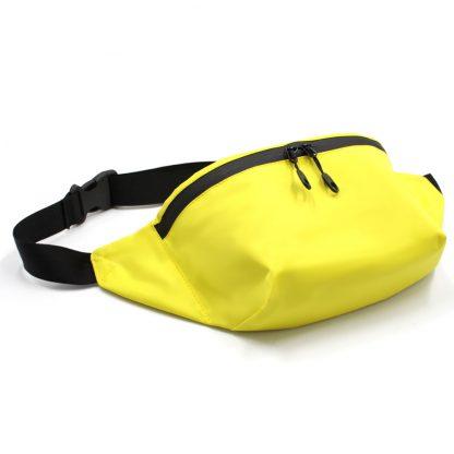 сумка поясная с карманом жёлтая