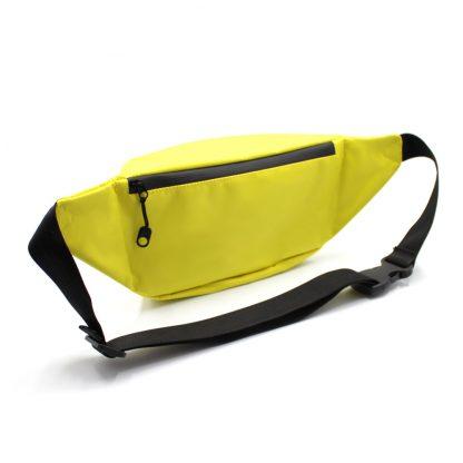 сумка поясная с карманом жёлтая сзади