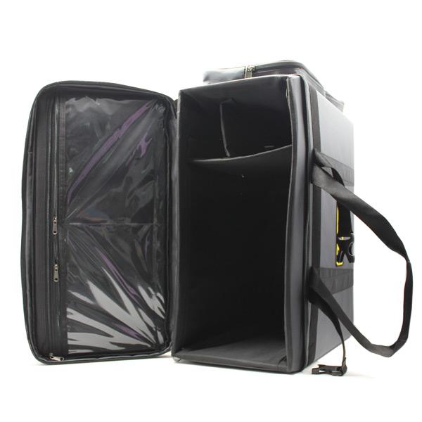 Сумка специальная прибор кофр прочная большая серый карманы внутри