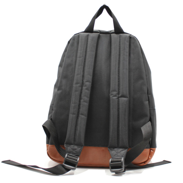 рюкзак повседневный городской мужской женский черный простой R-01 сзади