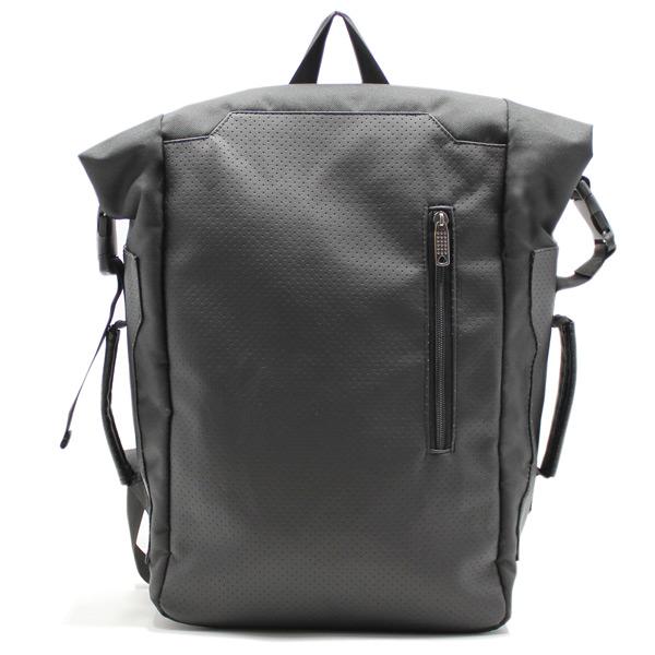 рюкзак повседневный городской спортивный мужской женский черный R-02 спереди