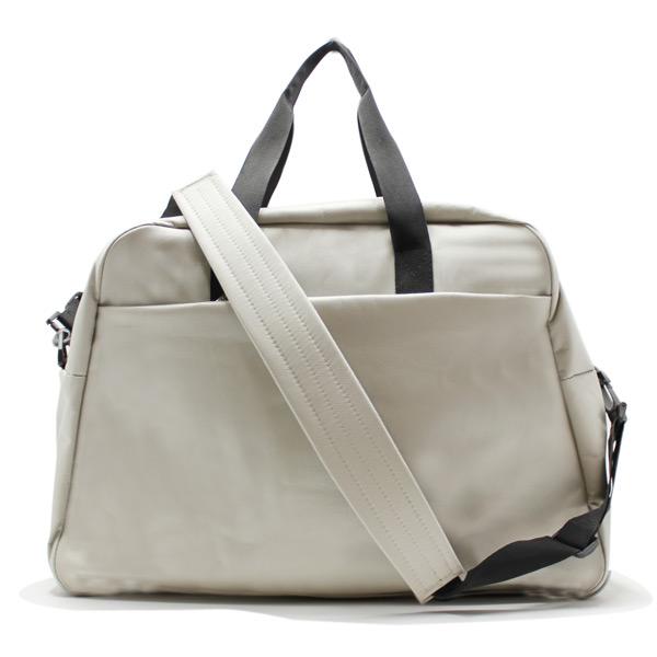 сумка дорожная для спорта путешествия большая вместительная бежевый сзади