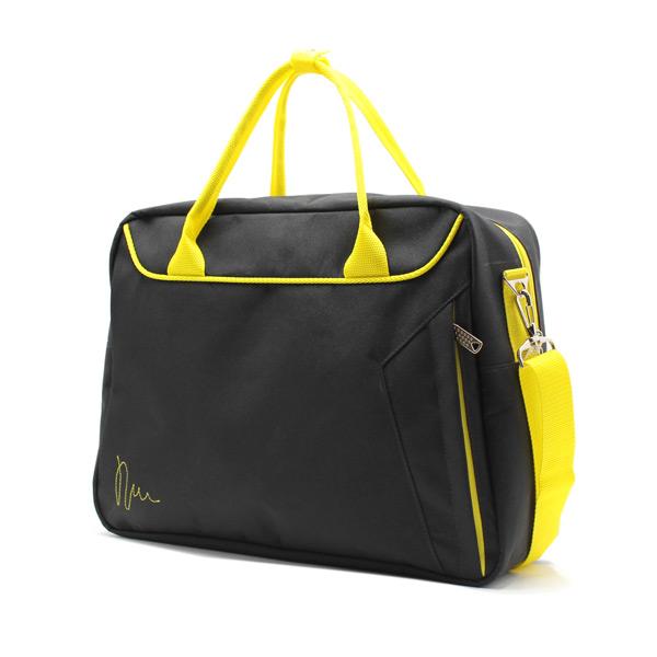 сумка городская для ноутбука для бумаг поездка черная сбоку