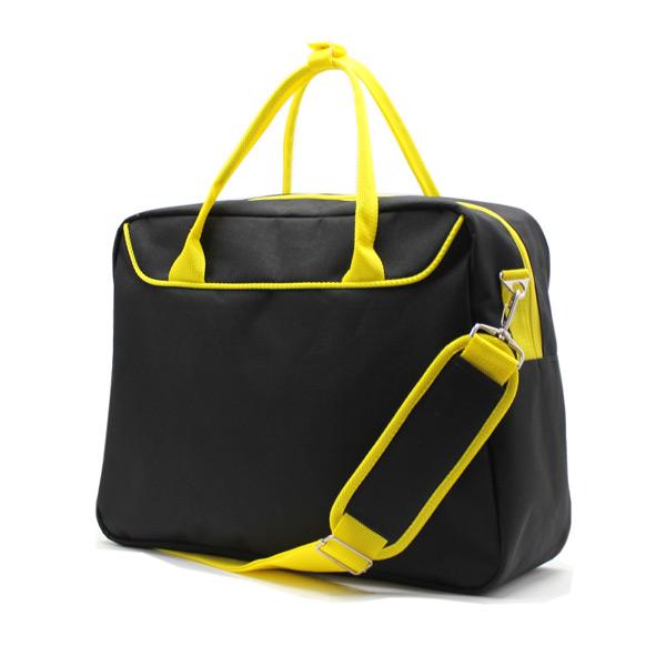 сумка городская для ноутбука для бумаг поездка черная сзади
